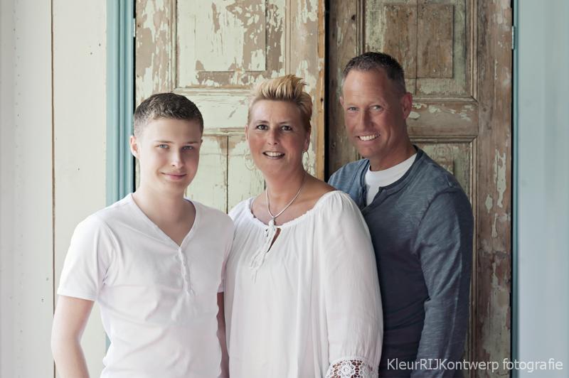Familieportret Hans, Carmen en Dennis
