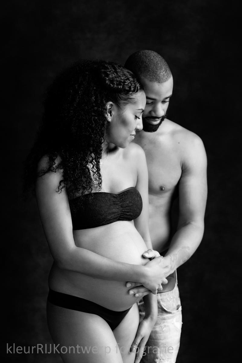 prachtig zwanger fotoshoot
