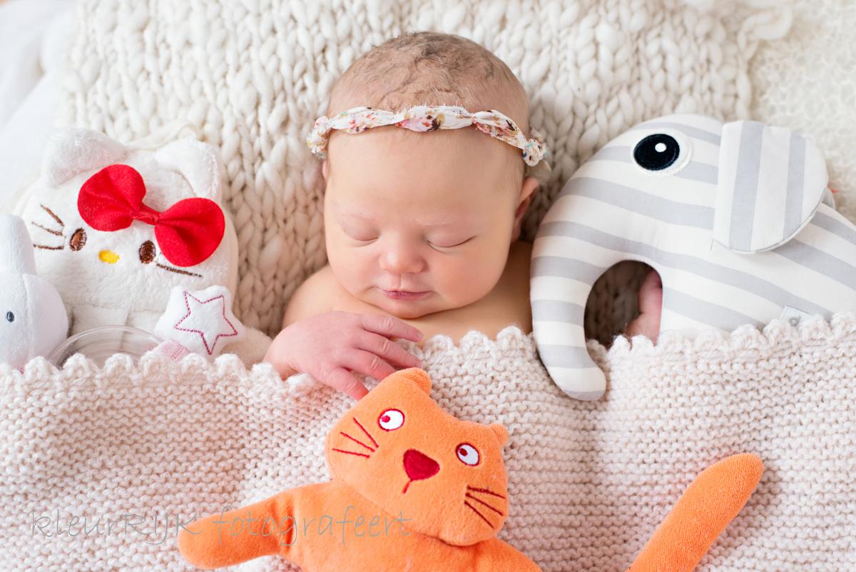 lieve newborn fotoshoot aan huis