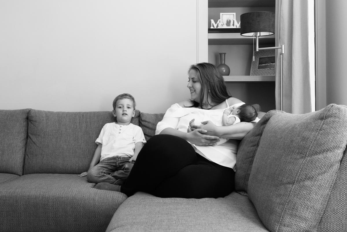 lifestyle newborn fotografie laren