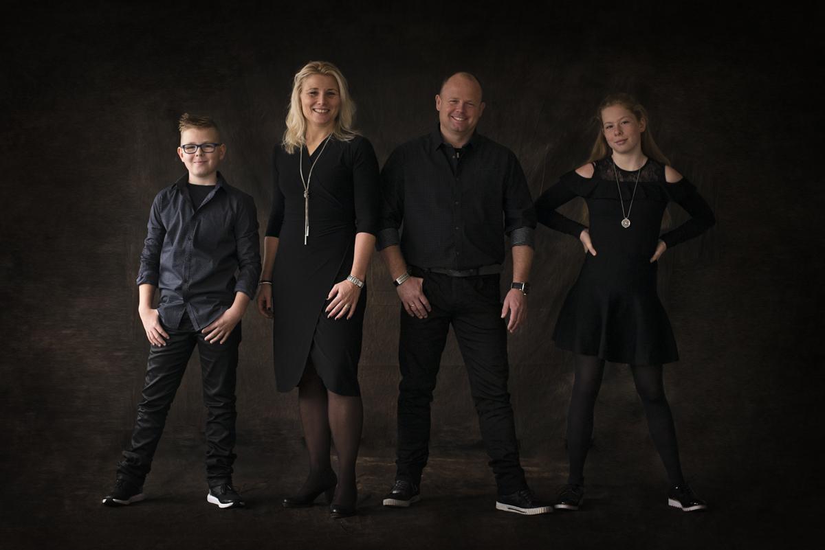 Familieportret in de studio