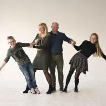 Familieportret in de studio | Gezinsfotografie van vier | Noord Holland