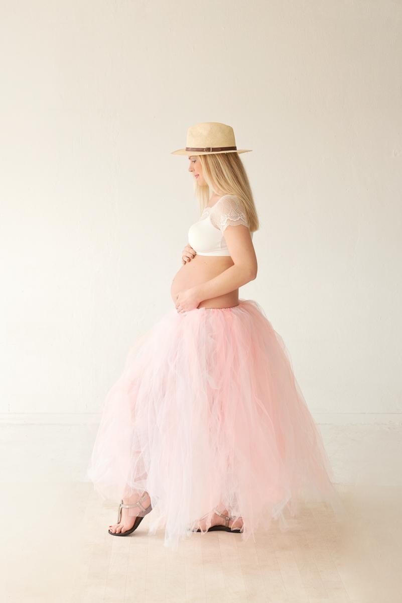 zwangerschapsfotografie zwart wit