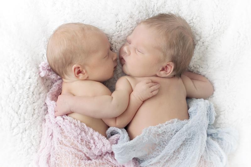 Newborn fotografie tweeling