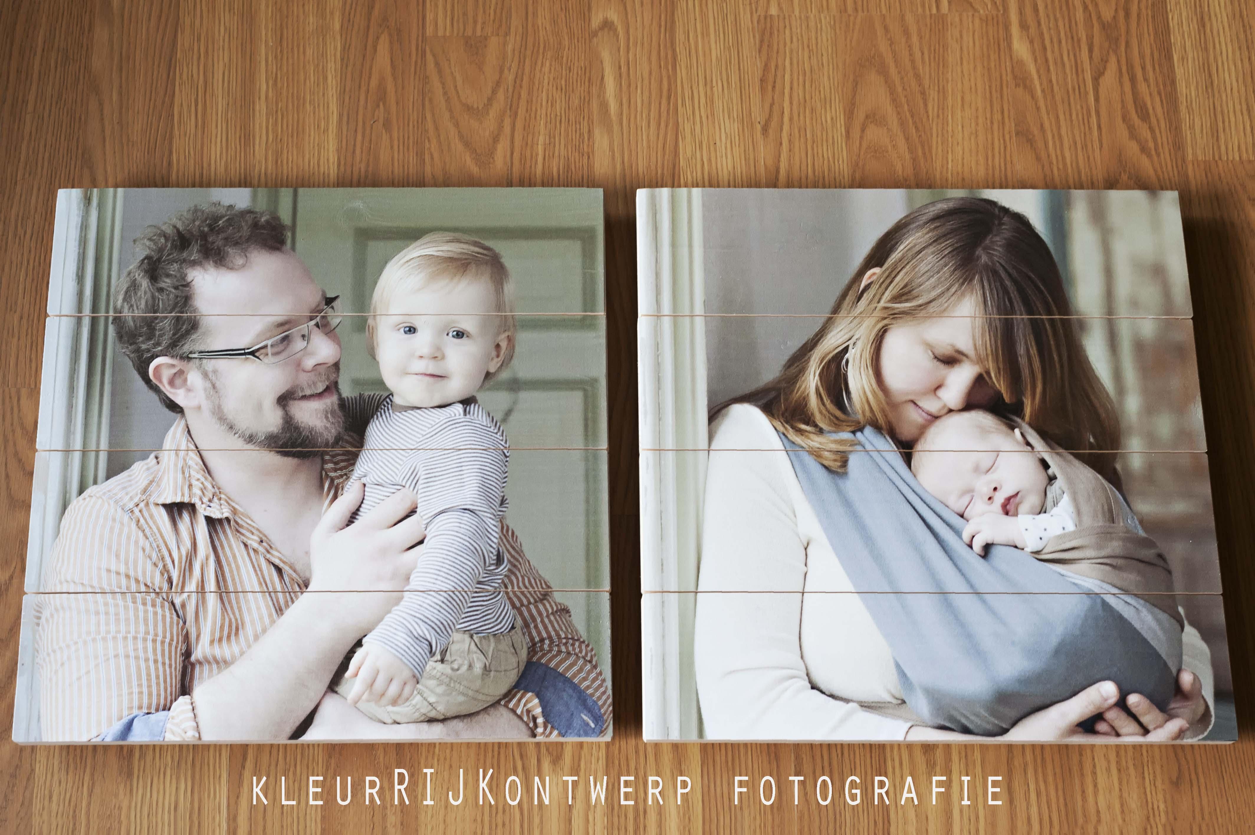 foto op hout | zwangerschap en newborn