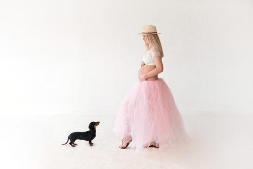 zwangerschap fotoshoot fotostudio hond