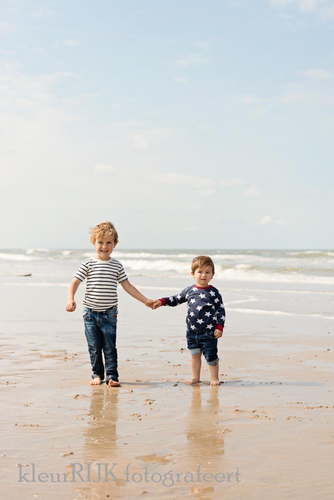 Familieportret op het strand
