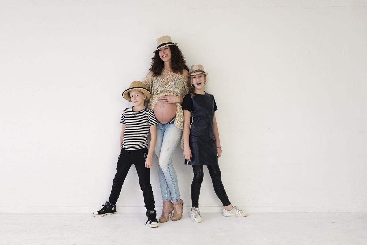 zwanger fotoshoot studio