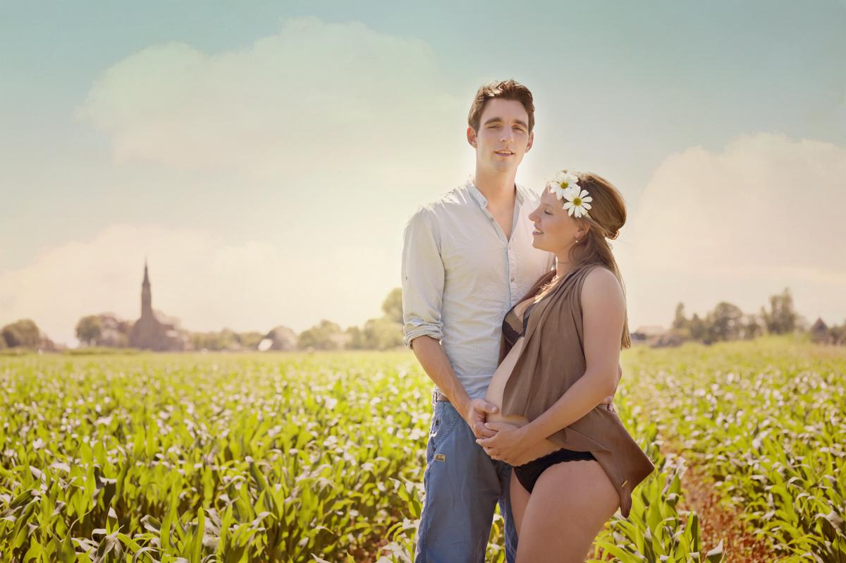 Zwangerschapsfotografie natuur