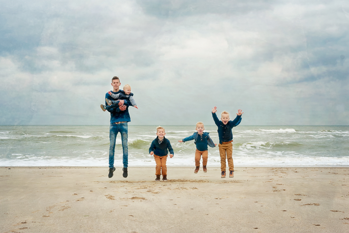 strandshoot met de hele familie
