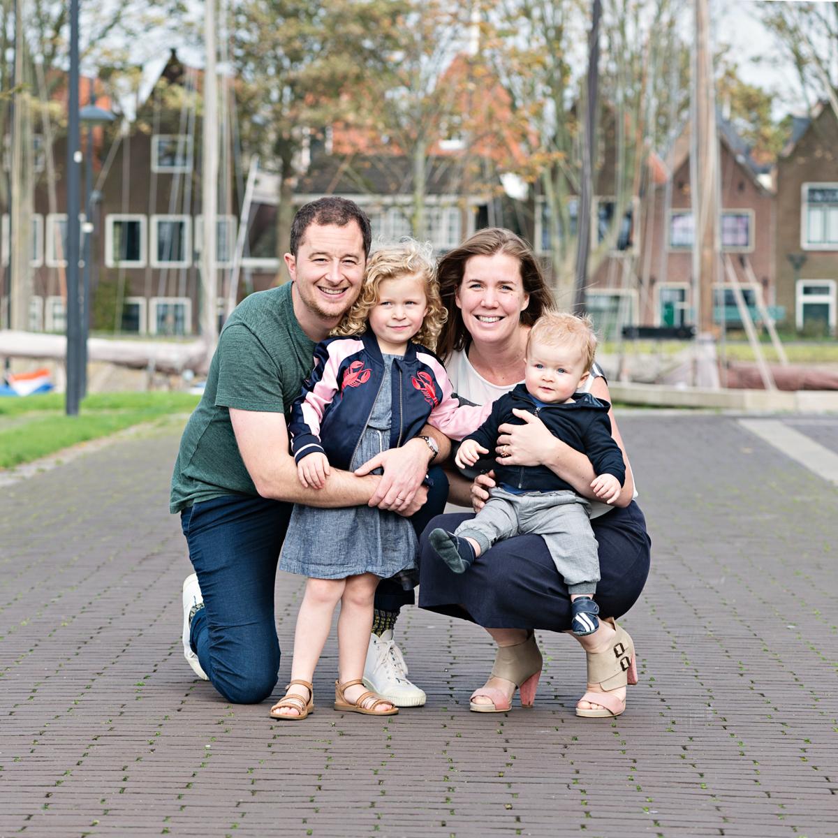 kleding familie fotoshoot blauw