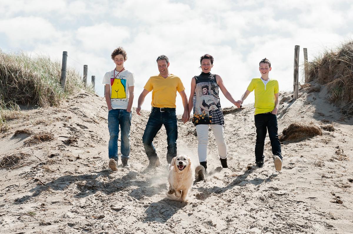 kleding familie fotoshoot geel