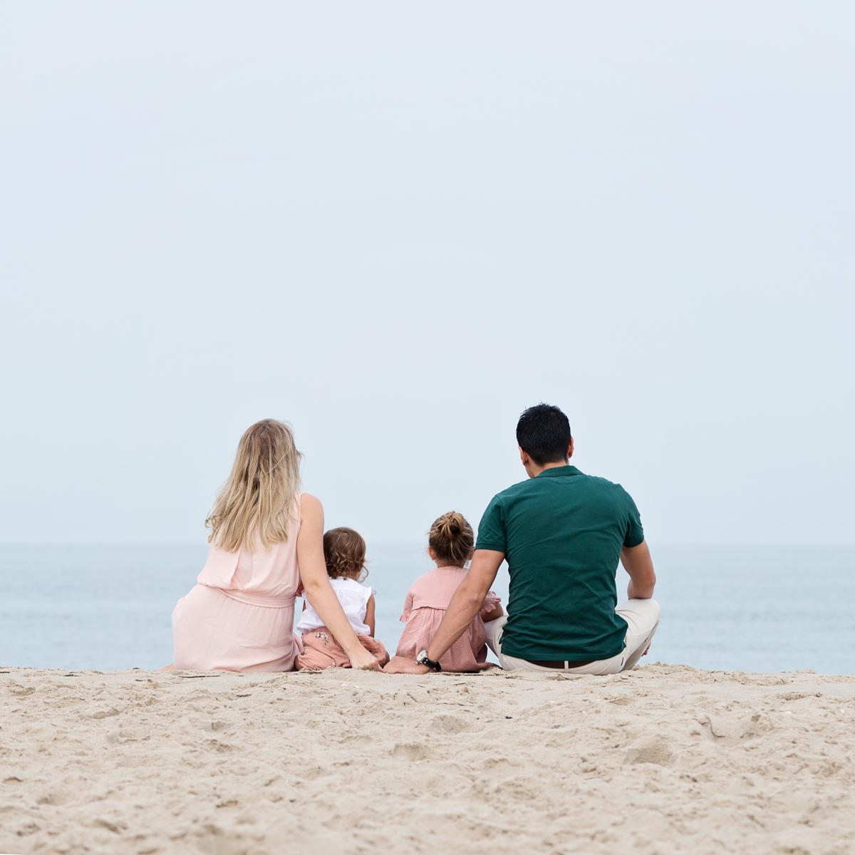 kleding familie fotoshoot roze