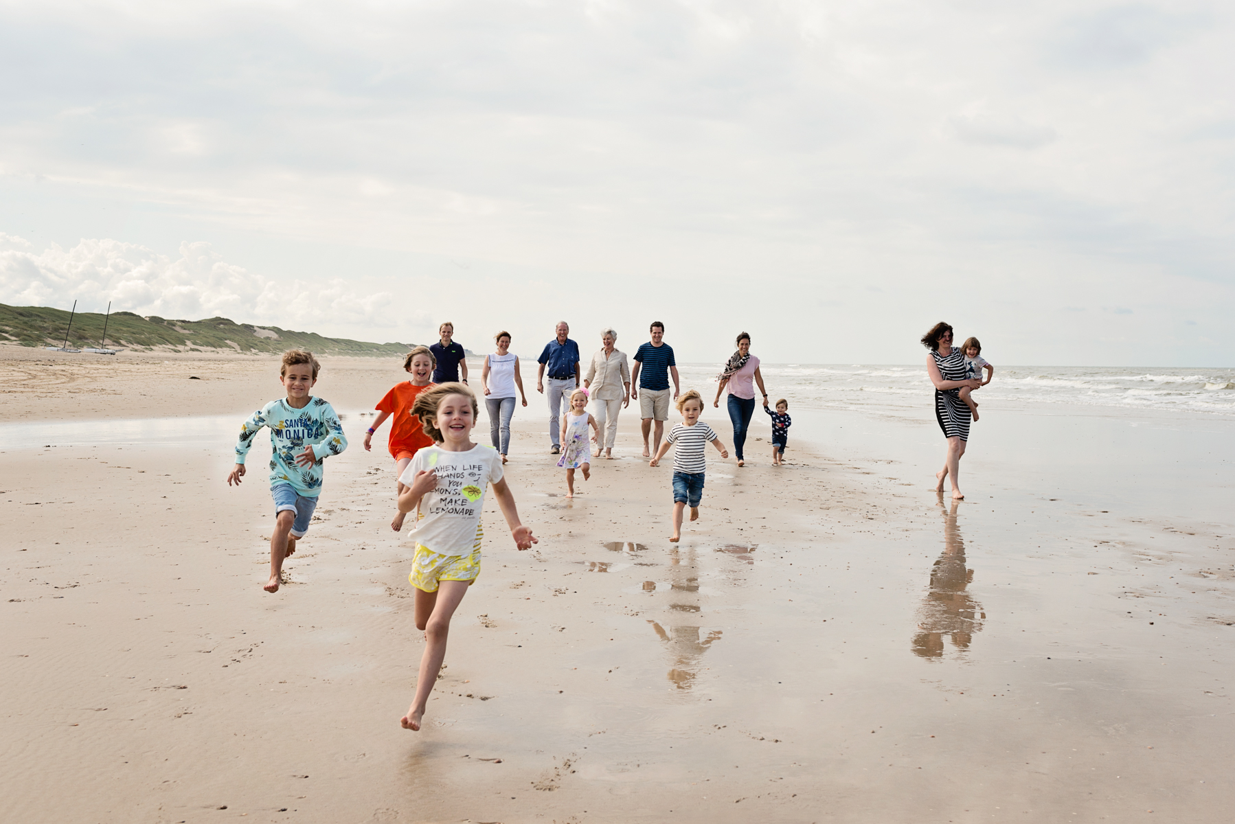 kleding familie fotoshoot zomers