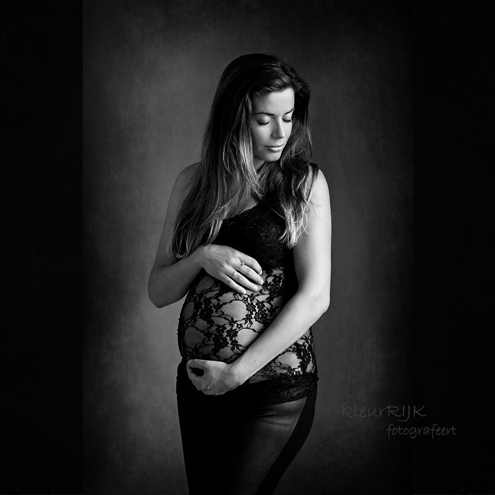 kleding zwanger fotoshoot kanten blouse