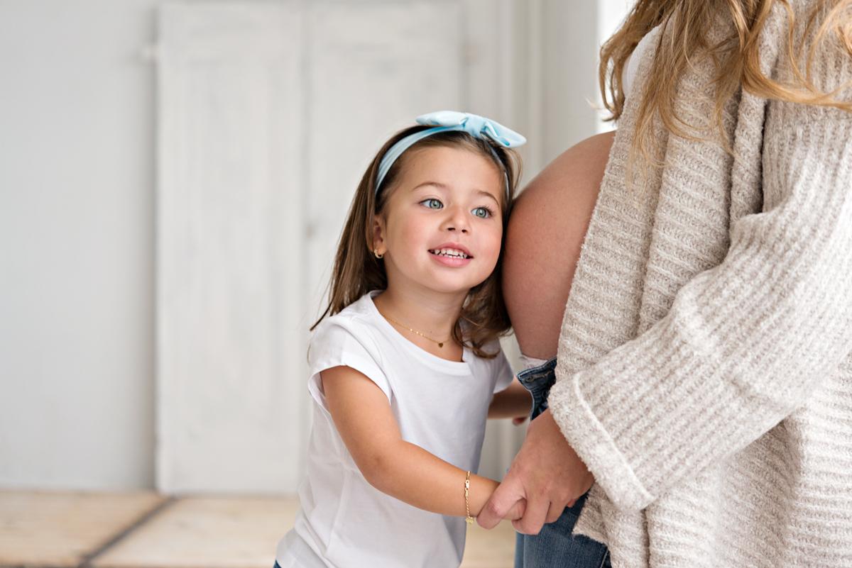 zwanger fotoshoot dochter