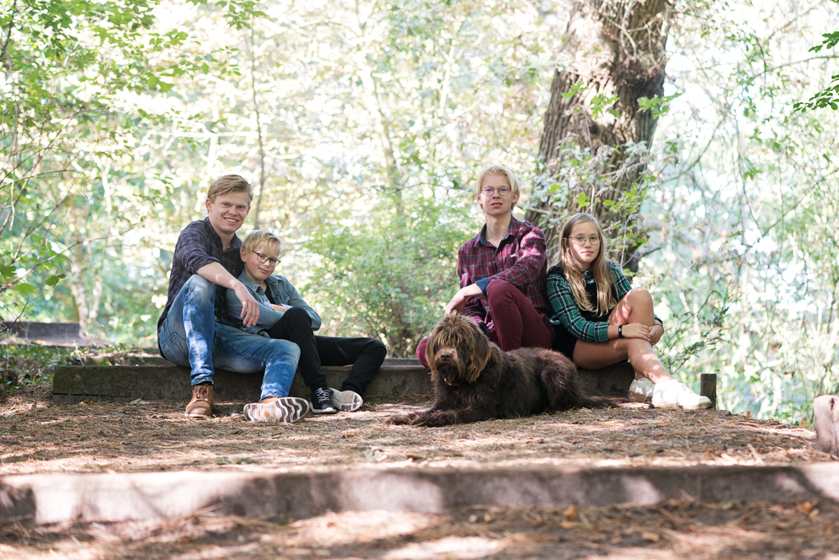 familie fotografie bos