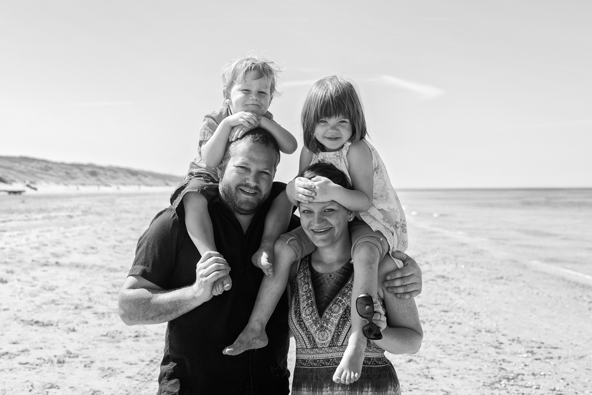 familie shoot strand