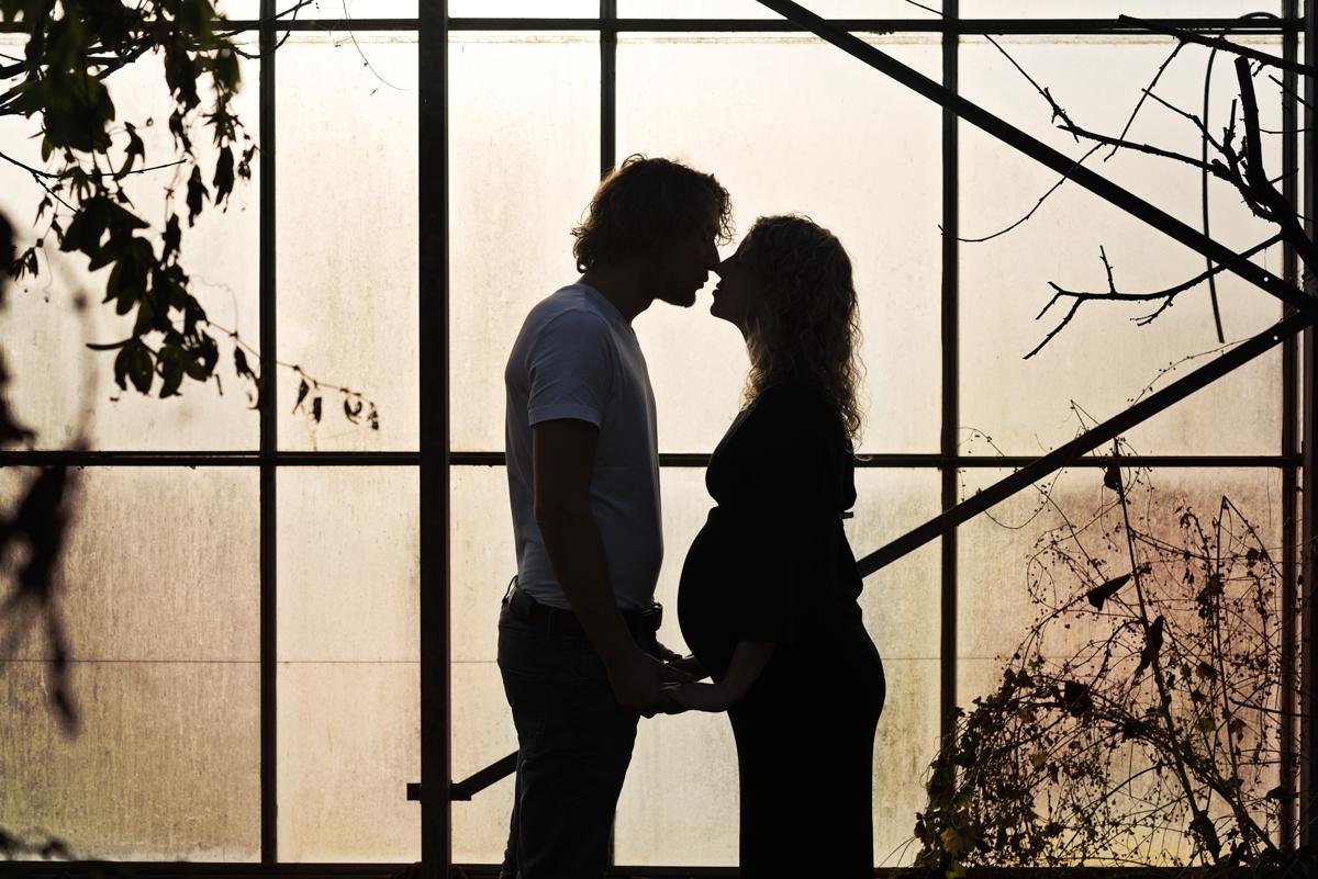 zwangerschapsshoot silhouet