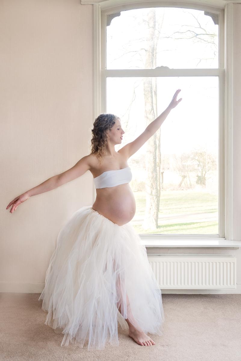 zwangerschapsshoot tulle en kant