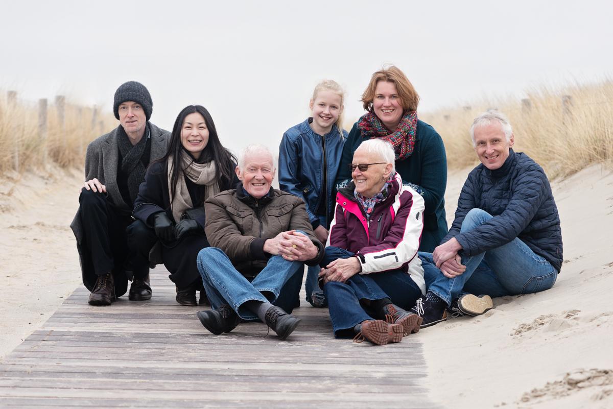 Strandshoot met de familie