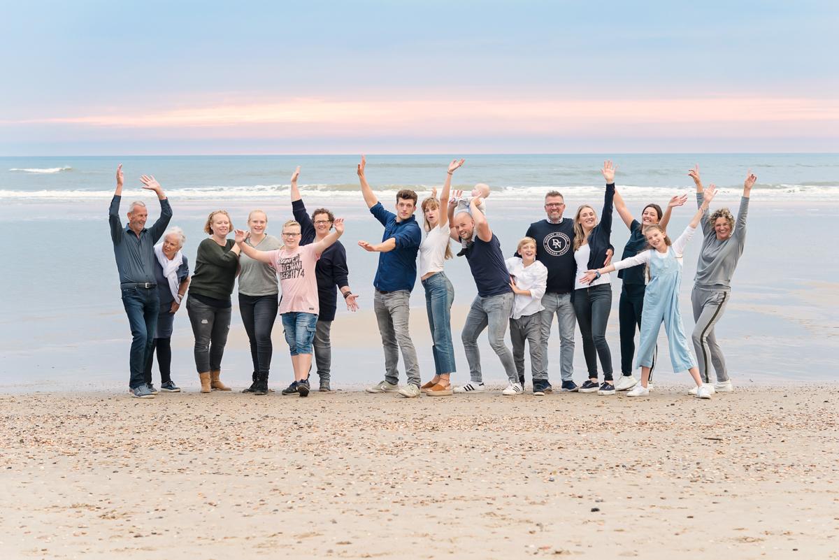 familieportret strand en duine