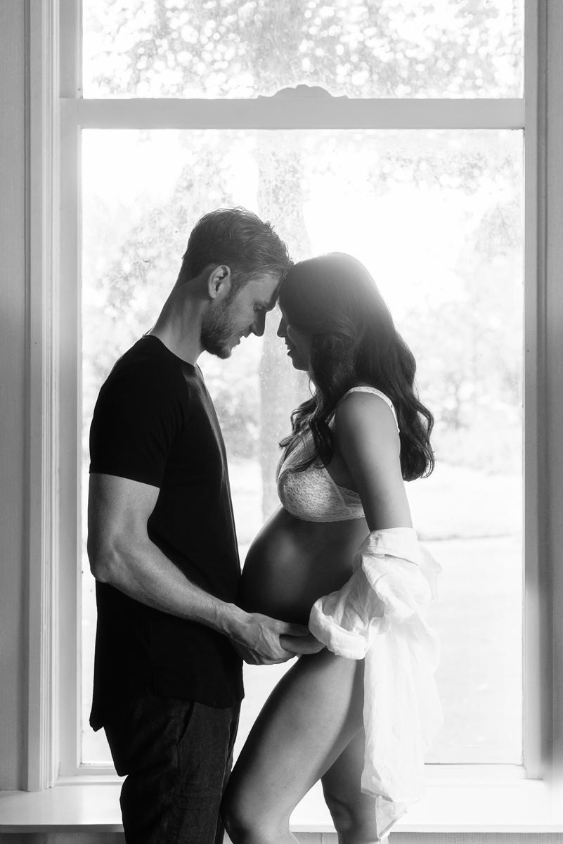 zwangerschapsfotografie kus