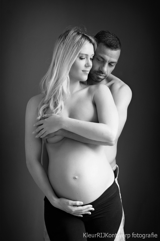 zwanger fotoshoot partner bloot