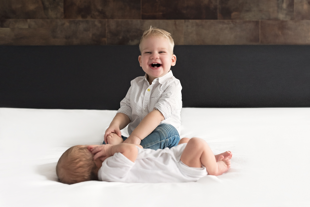 newborn fotoshoot gezin grote broer