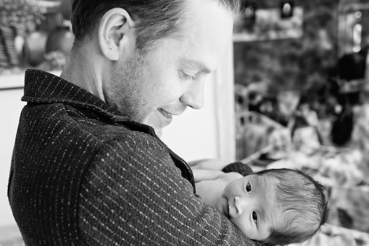 newborn fotoshoot papa